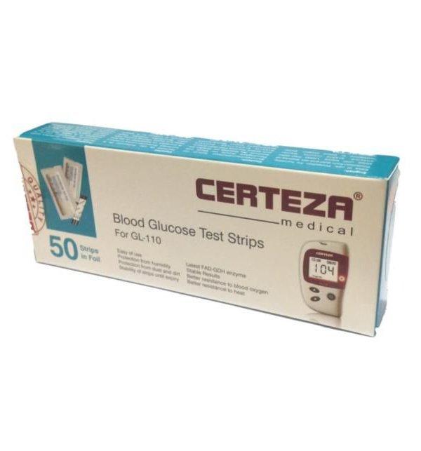 CERTEZA Blood Glucose 50 Test Strips
