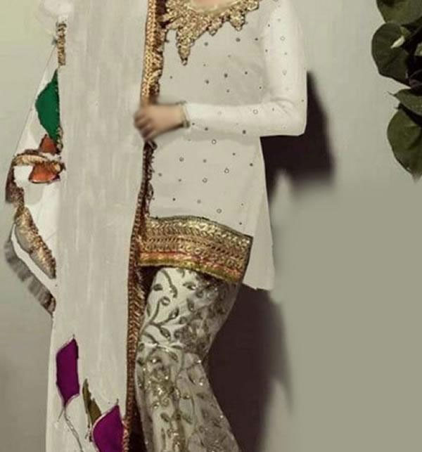 Chiffon Embroidered Suit With Chiffon Embroidered Dupatta  (CHI-266) (Unstitched)