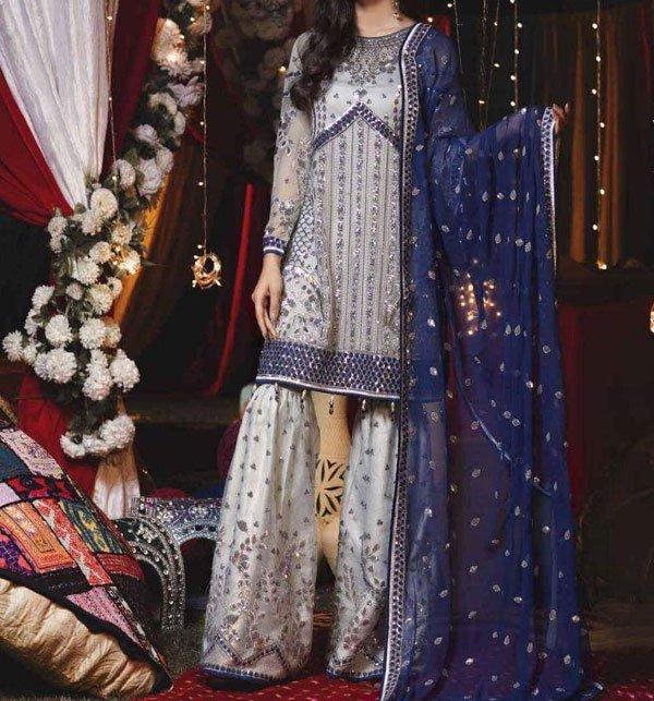 Designer Eid Chiffon Collection 2019 With Chiffon Dupatta (CHI-281) (Unstitched)