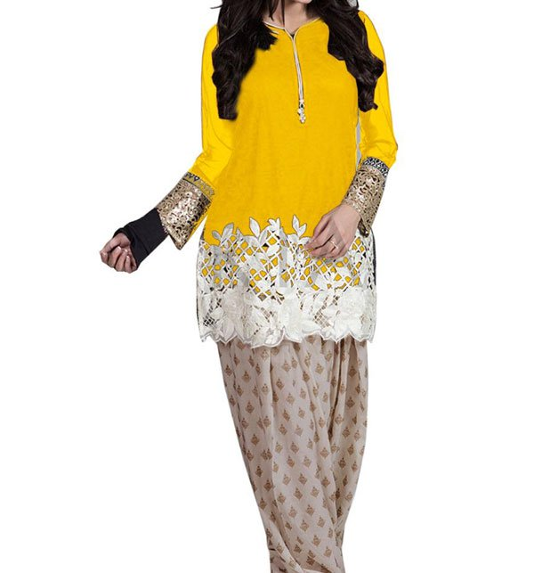 Designer Embroidered Lawn 2 Pec Suit Embroidered Shirt & Trouser (DRL-395)