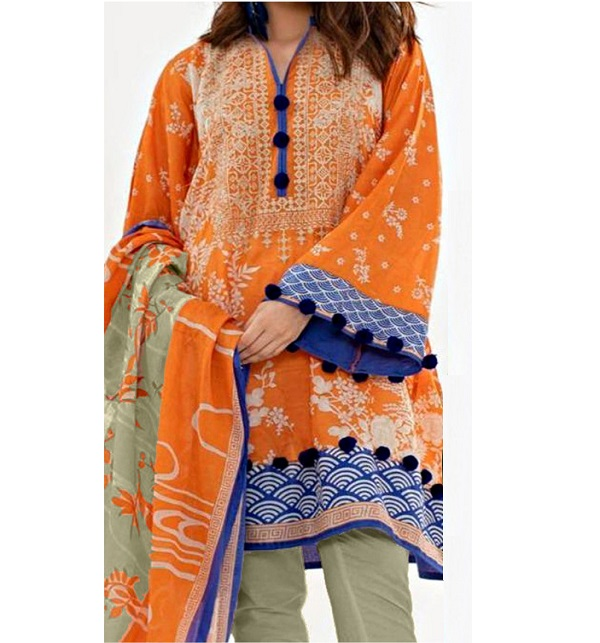 d80e197b5d8a2 (Most Hit Design) Embroidered Lawn Suit With Chiffon Dupatta (DRL-324)  (Unstitched)
