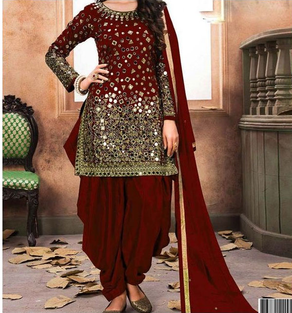 951de8bed1 Embroidered Chiffon Party Dress (Unstitched) (CHI-162) Price in ...