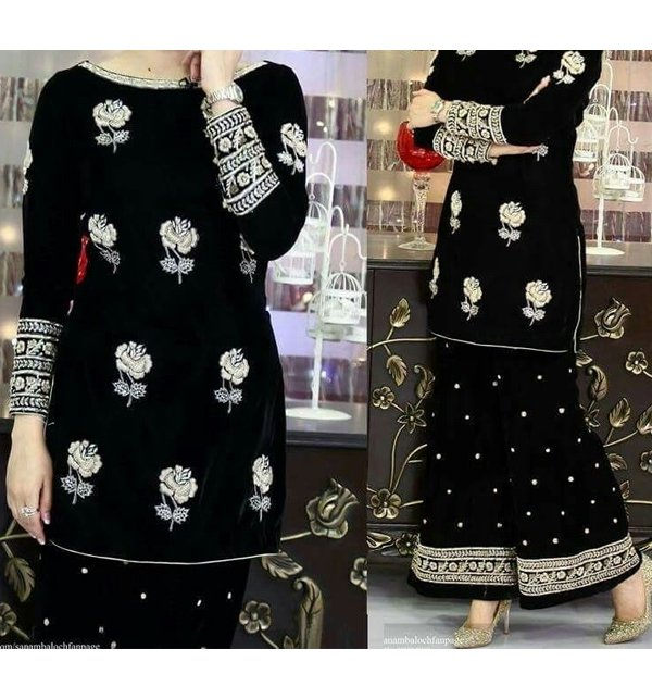 Embroidered Lawn Dress (2pcs) (DRL-64)
