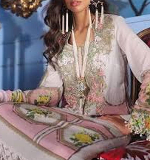 Embroidered Lawn Suit With Chiffon Dupatta (DRL-382) (Unstitched)