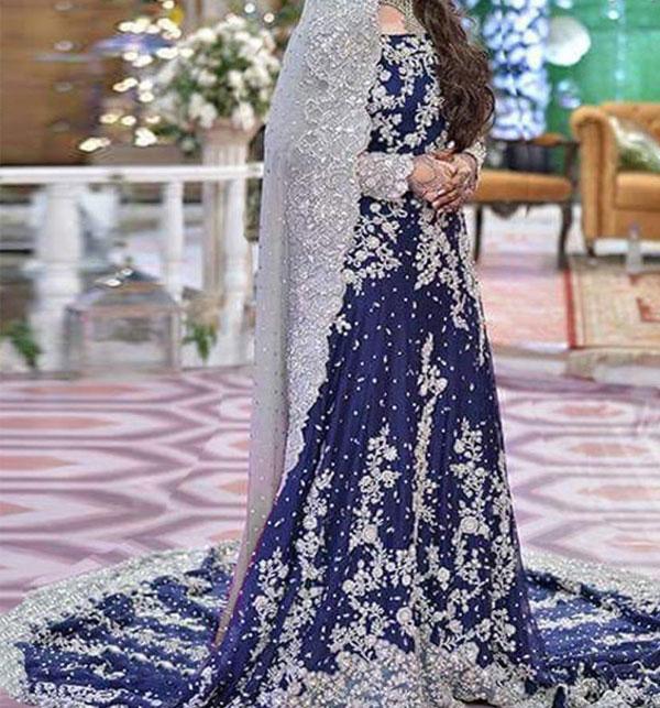 Heavy Embroidered Chiffon Bridal Dress Unstitched (CHI-80)