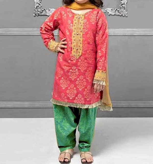 Kids 2-Pcs Embroidered Lawn Dress 2020 UnStitched (DK-112)