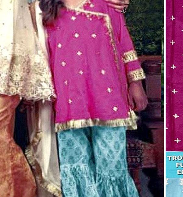 Kids 2-Pcs Embroidered Lawn Dress 2020 UnStitched (DK-113)