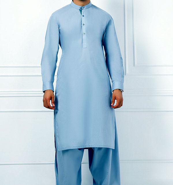 Mens Embroidered Wash n Wear Shalwar Kameez (MSK-55) (Un-Stitched)