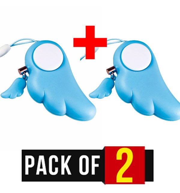 Pack of 2 - Key Ring Defense Alarm for Protection of Children Safety & Security