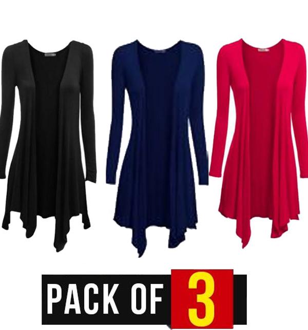 Pack of 3 Women's Cotton Shrugs