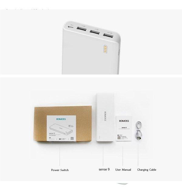 Romoss Sense 9  25000MAH Power Bank for Smart Phones